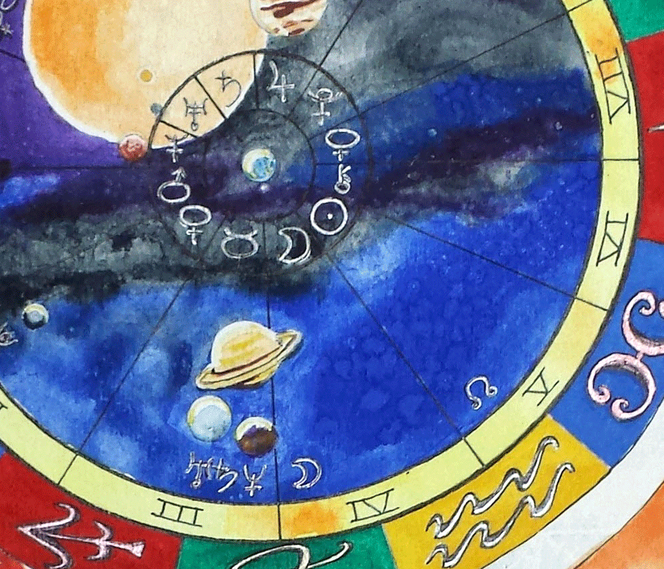 Leo hand painted natal chart christmas gift idea custom leo natal chart from mystick physick 6 nvjuhfo Gallery